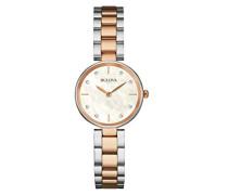 Diamond 98S147 - Damen Designer-Armbanduhr - Edelstahl - Roségoldfarben