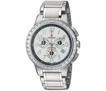 2094.9732 Swiss Unisex-Armbanduhr mit silberfarbenem Zifferblatt Chronograph Anzeige und Silber-Edelstahl-Armband
