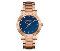Caravelle New York Damen-Armbanduhr NEW BOYFRIEND Analog Quarz Edelstahl beschichtet 44L202