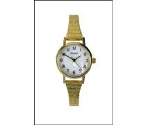Damen Armbanduhr Analog Edelstahl beschichtet gold 4677.27