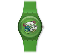 Swatch Unisex-Armbanduhr Analog Plastik SUOG103