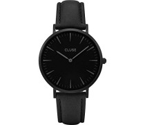 Damen Armbanduhr Analog Quarz Leder CL18501
