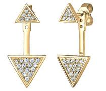 Damen-Ohrstecker Dreieck 925 Silber Kristall weiß Brillantschliff - 0309320516