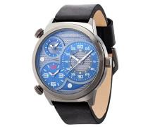 Police elapid Herren Mechanische Armbanduhr mit grauem Zifferblatt Analog-Anzeige und schwarz Lederband 14542jsu/13