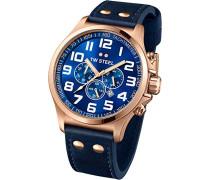 TW Steel Herren-Armbanduhr Pilot Chronograph Quarz TW407
