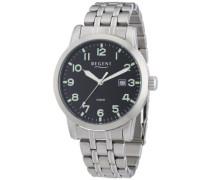 Regent Herren-Armbanduhr XL Analog Quarz Edelstahl 11150543