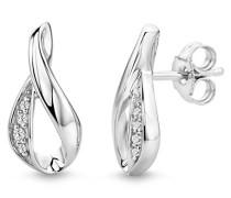 Miore Damen-Ohrringe 925 Sterling-Silber hochglanzpoliert mit Zirkonia