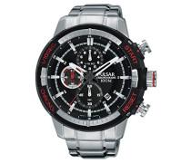 Herren-Armbanduhr Chronograph Quarz Edelstahl PM3047X1
