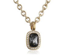 Damen-Kette ohne Anhänger 15/02 Dolla Sg Grey Edelstahl teilvergoldet Kristall grau 50 cm - 337643