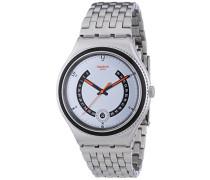 Swatch Herren-Armbanduhr XL Irony Big Classic Beaulieu Analog Quarz Edelstahl YWS405G