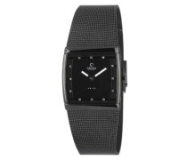 Obaku Damen-Armbanduhr Analog Quarz Edelstahl beschichtet V102LBBMB-S