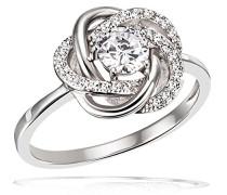 Damen-Ringe zirkonia Ringgröße 58 (18.5) Fo R8498S58