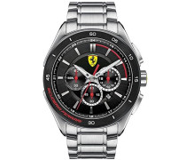 Ferrari Herren-Armbanduhr XL GRAN PREMIO Chrono Analog Quarz Edelstahl 830188