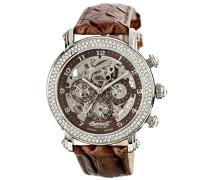 Ingersoll Damen Automatik Uhr mit Braun Zifferblatt Chronograph-Anzeige und braun Lederband in7202br