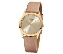 Regent Damen-Armbanduhr XS Analog Quarz Leder 12100587