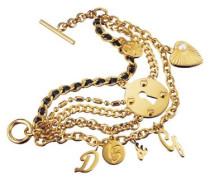 D &G-DJ0508 Damen-Armband Edelstahl vergoldet