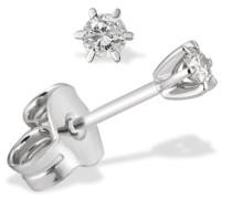 Damen-Ohrstecker Solitär 6er-Stotzen 333 Weissgold 2 Diamanten 0,15 ct. Ohrringe Brillanten Schmuck