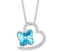 Halskette Herz Schmetterling Swarovski Kristalle 925 Silber 0112111316