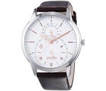 Herren-Armbanduhr XL Analog Quarz Leder JP101401003