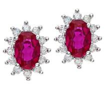 Damen-Ohrstecker 9 Karat 375 Weißgold Diamant PE04750W-RU