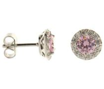 Damen-Ohrstecker 925 Sterling Silber Zirkonia Fancy Colours Linie pink 62/1558/1/102