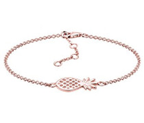 Damen Schmuck Echtschmuck Armband Gliederarmband Ananas Tropic Sterling Silber 925 Rosé Vergoldet Länge 17 cm