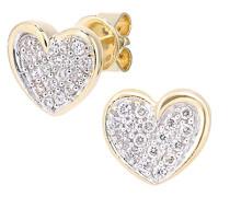 Damen -  18 k (750)  Gelbgold Rundschliff   weiß Diamant