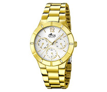 Damen-Armbanduhr Analog Quarz Edelstahl beschichtet 15914/1