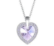 Damen-Kette mit Anhänger Herz Liebe 925 Silber Swarovski Kristall Brillantschliff 45 cm - 0103510316_45