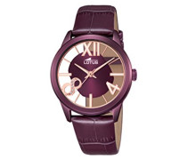 Damen-Armbanduhr Analog Quarz Leder 18308/1