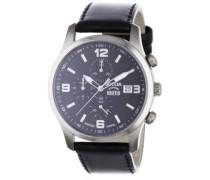 Herren-Armbanduhr Mit Lederarmband Sport 3776-01