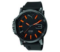 Herren Armbanduhr Datum klassisch Quarz Silikon PU103911001