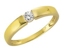 Fascination by Ellen K. Damen-Ring 375 Gelbgold Zirkonia Rundschliff weiß