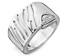 Damen-Ring 925 Silber rhodiniert Zirkonia weiß Rundschliff