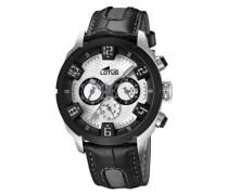 Herren-Armbanduhr Chronograph Quarz Leder 15787/1