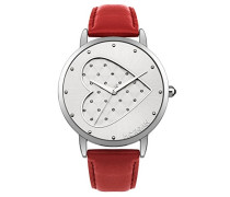 Morgan-m1241r-a Damen-Armbanduhr 045J699Analog silber-Armband Leder Rot