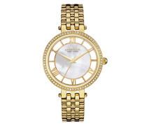 Caravelle New York Damen-Armbanduhr TRANSPARENCY Analog Quarz Edelstahl beschichtet 44L170