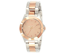 59796-032-Bright-J Damen-Armbanduhr Alyce Quarz analog Armband Stahl-bi-color-pink