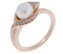 Damen-Ring mit Rund Perle Ringgröße 56 (17.8) - ZR-7234/RG/56