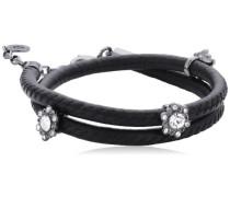 Jewelry Damen Armband Messing Leder Classic 38.0 cm schwarz 601413072