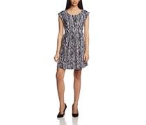 blue seven Damen Kleid Da, Rundhals, o. Arm, Knielang, Gr. 40 (Herstellergröße: L), Weiß (WEISS ORIG 001)