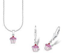 Kinder-Schmuckset Halskette + Ohrringe (Limitiertes Jubiläumsangebot) 925 Silber - 515900