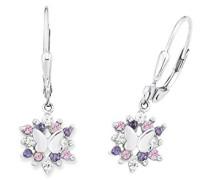 Prinzessin Lillifee Kinder-Ohrhänger Mädchen 925 Silber Schmetterlinge rhodiniert Zirkonia lila rosa