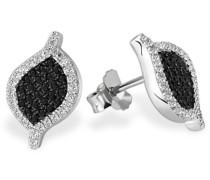 Damen-Ohrstecker Black Pavee 925 Sterlingsilber 98 schwarz-weisse Zirkonia Pa O5402S Ohrringe Schmuck