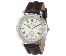 Herren-Armbanduhr XL Nostalgia Analog Automatik Leder 17071.4133