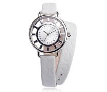 -VV055SLWH Damen-Armbanduhr Lolla Quarz analog Leder Weiß