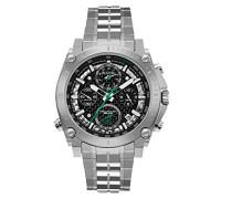 Precisionist 96G241 - Herren Designer-Armbanduhr - Chronograph mit Edelstahl-Armband - Schwarz/Grün