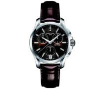 Damen-Armbanduhr Chronograph Quarz Leder C004.217.16.296.00