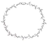 Damen-Armband 375 Weißgold Diamant 0,10 ct weiß Rundschliff 1,85 cm PBC02655W