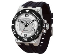 Herren-Armbanduhr XL Divrers date Display Watch Analog Edelstahl JG9600-11